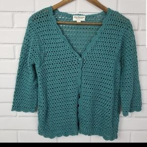 Norm Thompson Large Knit Cardigan Sweater